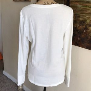 Time and Tru Tops - TIME AND TRU cream colored thermal type top